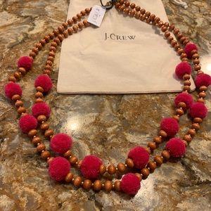 J. Crew Pom Pom & Beads Necklace
